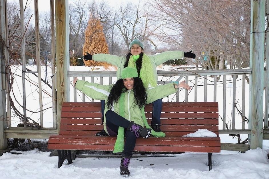 Clementina et gabrielle au jardin botanique de montr al en for Jardin botanique montreal tarif