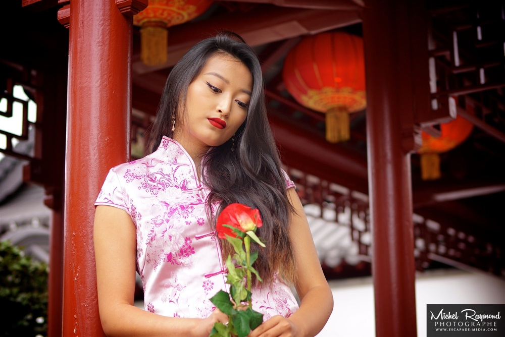 belle-chinoise-avec-rose-rouge