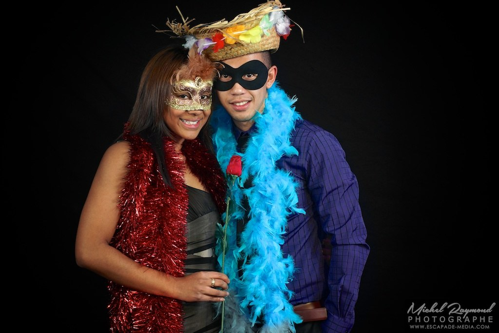 photo booth masqué