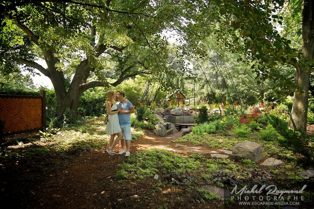 séance photo en couple au jardin Daniel Séguin