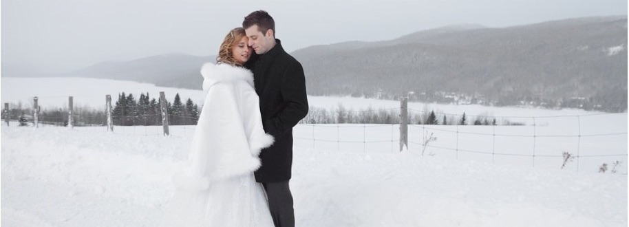photo de mariage d hiver avec kim et am lie. Black Bedroom Furniture Sets. Home Design Ideas