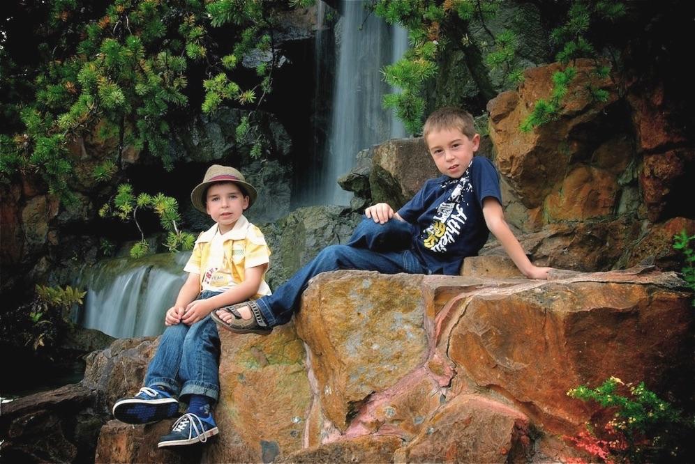 Photos famille jardin botanique montreal for Au jardin de fanny montreal