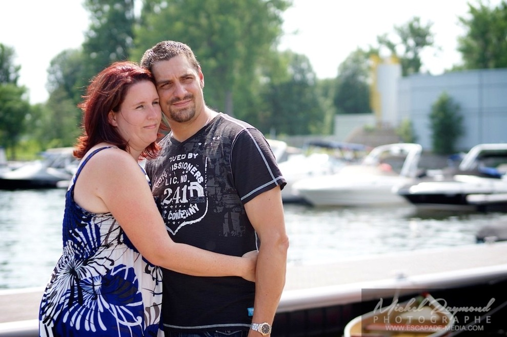 photo de couple à la marina Le Nautique